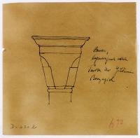 view D-230b: Brussa, Yilderim Bayazid (in D-230).SA-III, fig.42 digital asset: Brussa (Turkey): Turba Yilderim Bayazid: Truncated Cone Capital [drawing]