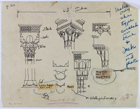 view D-238: Assur, Mosul, Baghdad. Wooden capitals (tracing). Finished drawing D-1146. SA-III, figs.29--31 digital asset: Assur (Iraq), Mosul (Iraq), Baghdad (Iraq): wooden capitals, [drawing]