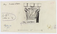 view D-287a: Aleppo (Syria): Mashhad al-Husayn, Mihrab: Sketch of Roman Style Capital digital asset: Aleppo (Syria): Mashhad al-Husayn, Mihrab: Sketch of Roman Style Capital [drawing]