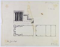 view D-294a: Aleppo (Syria): Mosque of al-Hayyat, Basalt Bema (Memor, Small Minbar): Sketch and Notes digital asset: Aleppo (Syria): Mosque of al-Hayyat, Basalt Bema (Memor, Small Minbar): Sketch and Notes [drawing]