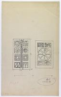 view D-330: Ma'arrat al-Nu'man, Great Mosque. Two basalt doors digital asset: Ma'arat al-Nu'man (Syria): Great Mosque: Two Basalt Doors [drawing]