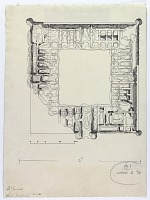 view D-346: Ribat Zafarani. SA-II, fig.2 digital asset: Zafarani (Iran): Ruins of Caravansarai: Ground Plan [drawing]