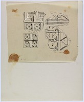 view D-348: Assur, carved stucco.IAE, fig.387 digital asset: Excavation of Assur (Iraq): Wall Decoration with Geometric Ornamentation [drawing]