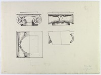 view D-360: Khurha (Iran): Seleucid Temple: Detail Plan and Elevation of Ionic Column Capitals digital asset: Khurha (Iran): Seleucid Temple: Detail Plan and Elevation of Ionic Column Capitals [drawing]