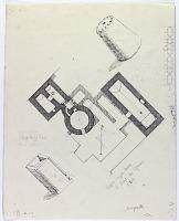 "view D-377: Pir Bakran. Suffat Sayyid Musa. Plan and elevation of details. Marked ""Unpubl."" digital asset: Linjan District (Iran): Pir-i Bakran Mausoleum, Tomb of Sheikh Muhammad Ibn Bakran, Suffat Sayyid Musa: Ground Plan and Elevation, Details [drawing]"