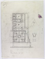 view D-378: Isfahan. Russian Consulate. Plan, 1905 digital asset: Isfahan (Iran): Russian Consulate: Ground Plan, [drawing]