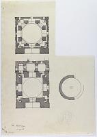 """view D-396: Tus, Haruniyya. Plan. Marked """"Unpubl."""" digital asset: Tus (Iran): Haruniya Mausoleum: Ground Plan [drawing]"""