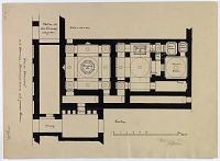 "view D-398: Isfahan. Persian bath, 1905. Marked ""Unpubl."" digital asset: Isfahan (Iran): Persian Bath: Ground Plan, [drawing]"