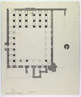 "view D-400: Damghan. Chihil Dukhtaran. Plan. Marked ""Unpubl."" digital asset: Damghan (Iran): Tarik Khana: Ground Plan [drawing]"