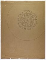 view D-645: Luristan. Bronze, floral ornament. Pen.IAE, fig.237 digital asset: Luristan (Iran): Engraved Floral Ornamentation on Bronze Vessel [drawing]