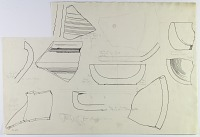 view Excavation of Pasargadae (Iran): Fragments and Profiles of Prehistoric Pottery, 1923 [drawing] digital asset number 1