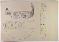 view D-664: Vicinity of Nihavand (Iran): Two Hoops in Thin Sheet-Copper, from Prehistoric Mound of Tepe Giyan digital asset: Vicinity of Nihavand (Iran): Two Hoops in Thin Sheet-Copper, from Prehistoric Mound of Tepe Giyan [drawing]