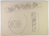 view D-665: Vicinity of Nihavand (Iran): Two Hoops in Thin Sheet-Copper, from Prehistoric Mound of Tepe Giyan digital asset: Vicinity of Nihavand (Iran): Two Hoops in Thin Sheet-Copper, from Prehistoric Mound of Tepe Giyan [drawing]