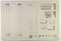 view D-699: Khurha (Iran): Pair of Columns near Southern Corner of Temple digital asset: Khurha (Iran): Pair of Columns near Southern Corner of Temple [drawing]
