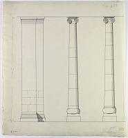 view D-699a: Khurha (Iran): Pair of Columns near Southern Corner of Temple digital asset: Khurha (Iran): Pair of Columns near Southern Corner of Temple [drawing]