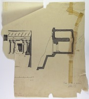 view D-704: Isfahan, Masjid-i Jami' (print) drawn by Eric Schroeder in 1931 for the American Institute for Persian Art & Archaeology digital asset: Da u Dukhtar (Iran): Rock-Cut Tomb: Fac̦ade Elevation and Section [drawing]