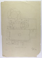 view D-709: Mashhad. Tracing of city area digital asset: Ardabil (Iran): Shrine of Shaykh Safi al-Din Ardabili: Tracing from Friedrich Sarre's Plan [drawing]