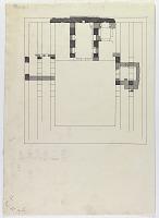view D-710: Ardabil. Tracing of Sarre's plan of Shrine digital asset: Khargird (Iran): Madrasa al-Nizamiyya: Unfinished Ground Plan [drawing]