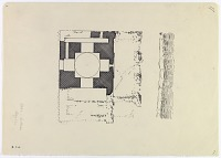 view D-722: Kaleh-i Dukhtar, near Baze'ur. Plan. SA-I, fig.23 digital asset: Vicinity of Firuzabad (Iran): Ground Plan of a Chahar Taq Structure [drawing]