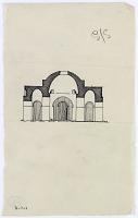 view D-723: Farrashband (Iran): Elevation of a Chahar Taq Structure digital asset: Farrashband (Iran): Elevation of a Chahar Taq Structure [drawing]