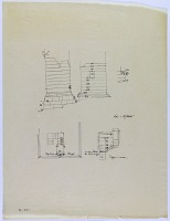 view D-741: Mil-i Azdaha. Plan and elevation digital asset: Nurabad (Iran): Ruins of Mil-i Azhdaha Tower: Plan and Elevation of the Structure [drawing]