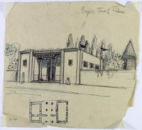 view D-758: Tus. Suggested plan and design for tomb of Firdowsi digital asset: Tus (Iran): Project for Mausoleum Commemorating the Poet Ferdowsi [drawing]