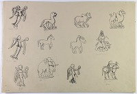 view D-770: Persia: Animal Figures from Coins digital asset: Persia: Animal Figures from Coins [drawing]