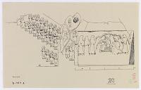 view D-787: Kurrangun.IAE, fig.304. Printed copy D-787a digital asset: Kurangun (Iran): Elamite Rock Reliefs Depicting Divine Couple and Worshippers as well as Attendants Wearing Long Pigtails [drawing]