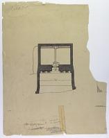 view D-788: Dā u dukhtar. Plan (tracing). Original D-794.IAE, pl.XXXVII digital asset: Da u Dukhtar (Iran): Rock-Cut Tomb: Ground Plan [drawing]