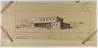 view Excavation of Pasargadae (Iran): Palace 'S': Reconstructed View, drawn by Friedrich Krefter, 1928 [drawing] digital asset number 1