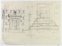 view D-803a: Excavation of Pasargadae (Iran): Zendan (Zendan-i Sulaiman): Reconstructed Elevation of Portal digital asset: Excavation of Pasargadae (Iran): Zendan (Zendan-i Sulaiman): Reconstructed Elevation of Portal [drawing]