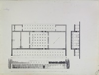 view Excavation of Pasargadae (Iran): Palace 'P': Reconstructed Ground Plan and Elevations of Ruins, drawn by Friedrich Krefter, 1928 [drawing] digital asset number 1