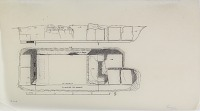 view D-809b: Excavation of Pasargadae (Iran): Palace 'S', Pier 3: Ground Plan and Section, drawn by Friedrich Krefter digital asset: Excavation of Pasargadae (Iran): Palace 'S', Pier 3: Ground Plan and Section, drawn by Friedrich Krefter, [drawing]