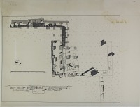 view D-834: Istakhr. Excavation 1. Plan and section digital asset: Excavation of Istakhr (Iran): Excavation Sounding No.1: Plan and Elevation, Drawn by Karl Bergner