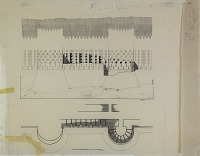 view D-835: Istakhr. City wall.IAE, p1.XCII digital asset: Excavation of Istakhr (Iran): Plan and Elevation of City Wall, Drawn by Karl Bergner, [drawing]