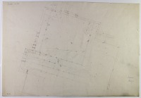 view D-836: Istakhr. Mosque (unfinished pencil plan) digital asset: Excavation of Istakhr (Iran): Medieval Mosque: Pencilled Ground Plan [drawing]