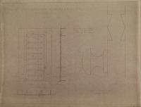 view D-879: Istakhr (?). Bronze doors of Harem buildings. Krefter, Berlin, 1931 digital asset: Excavation of Persepolis (Iran): Harem of Xerxes: Bronze Doors, drawn by Friedrich Krefter, [drawing]