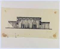 view Excavation of Pasargadae (Iran): Reconstructed Elevation of Facade [drawing] digital asset number 1