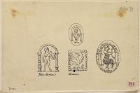 view D-960: Parthian coins, devices.IAE, fig.391 digital asset: Various Devices on Parthian Coins [drawing]