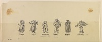 view D-974: Kushan gold coins. Devices.IAE, fig.412 digital asset: Kushan Coins Depicting Iconographic Forms Drawn from Greek Mythology [drawing]