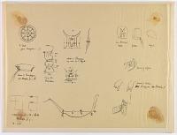 view D-984: Naqsh-i Rustam. Studies of details, including hands, monograms digital asset: Naqsh-i Rustam (Iran), Bishapur (Iran), Sar Mashhad (Iran): Sasanian Rock Reliefs: Study of Details [drawing]