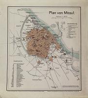 view D-1005: Map: Plan of Mosul (4 copies and 1 colored). Sarre-Herzfeld,Reise im Euphrat-und Tigrisgebiet, Blatt 4 digital asset: Mosul (Iraq): Plan of the City
