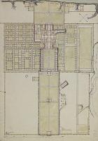 view D-1019: Samarra. Plan of unidentified palace. Water-color digital asset: Excavation of Samarra (Iraq): Balkuwara Palace: Watercolor Plan [drawing]