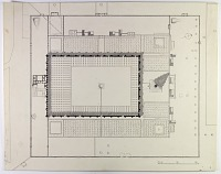 "view D-1082: Samarra, Great Mosque, marked ""unpublished"". Plan with Malwiyya, numbered 16 digital asset: Excavation of Samarra (Iraq): Great Mosque of al-Mutawakkil and its Spiraling Minaret (Malwiyya) [drawing]"