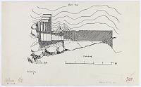 view D-1153: Kurangun.IAE, fig.303 digital asset: Kurangun (Iran): Elamite Rock Reliefs and Ground Plan of the Platform [drawing]