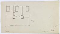view D-1155: Qyzqapan. Plan.IAE, fig.311 digital asset: Qyzqapan (Iran): Rock-Cut Tomb: Ground Plan of the Three Small Chambers [drawing]