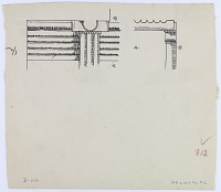 view D-1156: Qyzqapan. Ceiling, detail.IAE, fig.312 digital asset: Qyzqapan (Iran): Rock-Cut Tomb: Imitation of Woodwork on the Ceiling [drawing]