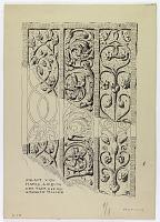 view D-1176: Hatra. Door jamb. Sculpture.TA, fig.19 digital asset: Hatra (Iraq): Fragment of Door Jamb with Relief Depicting Vegetal Ornamentation [drawing]