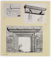 view D-1179: Sillyon, Syrt-Dagh. Cornices digital asset: Sillyon (Turkey): Lintel of Door [drawing]