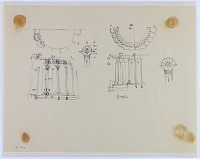 view D-1182: Achaemenian column bases digital asset: Jinjun (Iran): Elaborate Column Bases with Floral Ornamentation, [drawing]